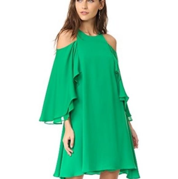 56ddcaa759ea Short sleeve cold shoulder round neck flowy dress